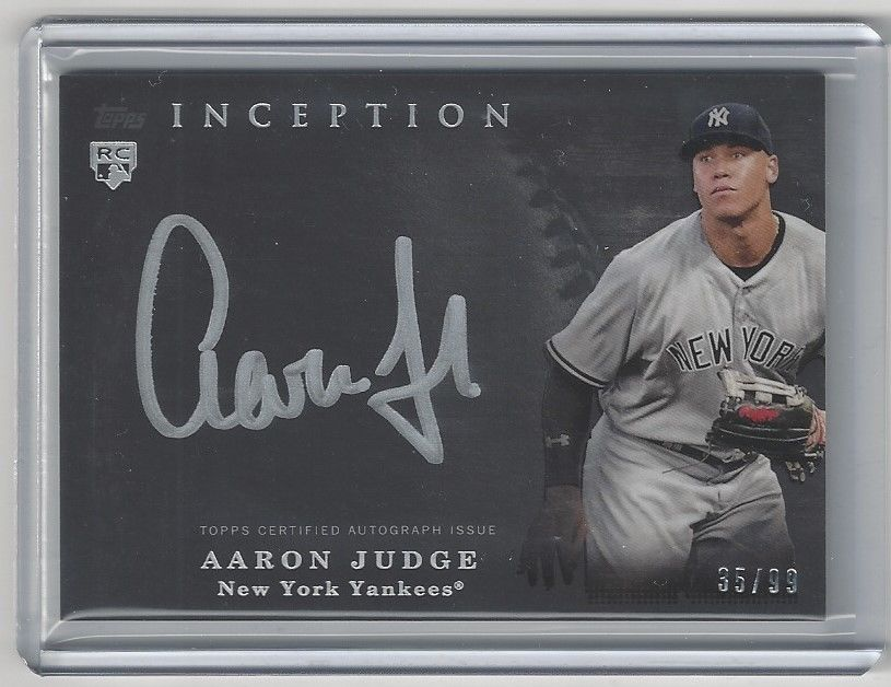 2017 inception aaron judge silver ink rookie auto 99 yankees