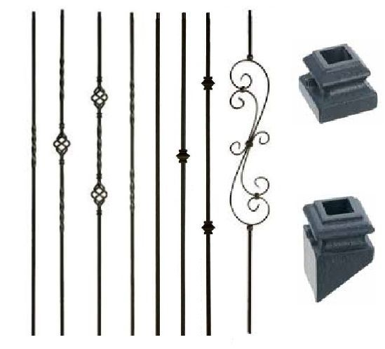 iron balusters iron spindles metal stair parts hollow satin