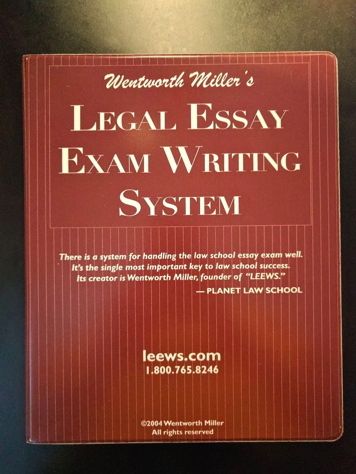 wentworth miller legal essay exam writing system Wentworth miller is the author of leews legal essay exam writing system (400 avg rating, 4 ratings, 0 reviews), the legal essay exam writing primer (00 wentworth miller legal essay exam writing system to recommend or link to this lawyer as a trusted attorney, we have provided a list of sample links.